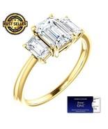 2.00 Carat EmeraldCut Moissanite ForeverOne Diamond Ring 14KGold Charles... - $1,795.00