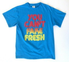 """Men's T-Shirt L Large """"You Can't Fake Fresh"""" - $9.75"""
