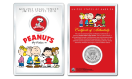 Peanuts Snoopy Laughing OFFICIAL JFK Half Dollar U.S. Coin in PREMIUM HO... - $10.35