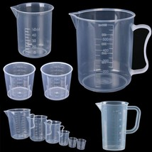 Measuring Cup Baking Clear Plastic Graduated Beaker Liquid Measure Mug C... - $3.51+