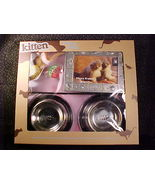 *KITTEN STARTER SET*BOWLS*PLACEMAT*TOYS*PHOTO FRAME*NEW - $14.99