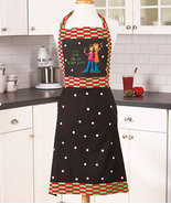 NEW LADIES WOMENS EAT DRINK AND BE BLOODY MARY KITCHEN COOKING APRON W 2... - $9.74