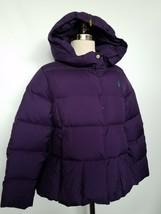 Ralph Lauren Girls Down Coat Jacket Puffer Winter Purple Size L 12-14 NEW - $119.00