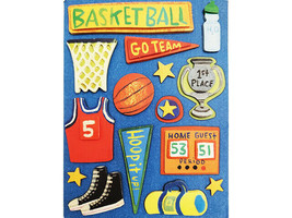 K&Company Basketball-Themed Dimensional Stickers #569171