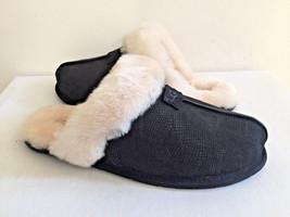 Ugg Scuffette Ii Snake Black Wool Slippers Us 12 / Eu 43 / Uk 10.5 Nib - $70.13