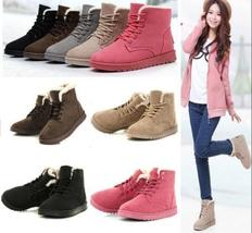 Women's Fashion Boots Comfort Shoes Flat Lace Up Ankle Winter Warm Snow Boot