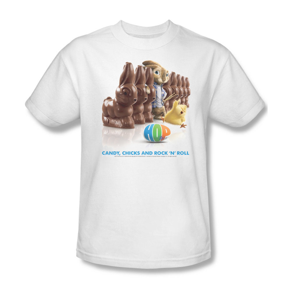 0 at 2011 fantasy comedy movie hop candy  chicks  rock n roll white tee easter island animated e
