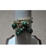 14k Solid Gold Dangle Rings Jade Rope Detail Custom Made Vintage 4.4g Si... - $189.00
