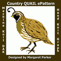 Machine Knit QUAIL ePattern DAK or HK Graph - $1.80