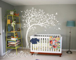 Gender neutral nursery wall decoration Multi color baby room tree set KW032R - $74.26