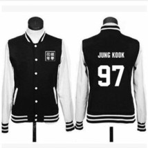 K-POP BTS Baseball clothes coat men and women Lovers Fleece Baseball clothes - $57.12