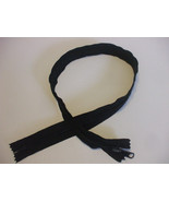 28 Inch Black Nylon Closed End Zipper Plastic Coiled Bag/Purse Clothing ... - $10.99