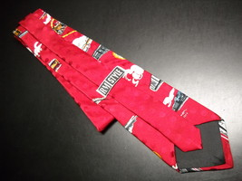 Ralph Marlin RM Style Neck Tie Time Of The Train 1994 Bright Reds Progression image 6