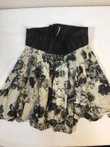 Women's FREE PEOPLE sz M Medium Floral Skirt Elastic Waist Full Skirt Boho - $16.33
