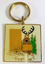 FARLEY Do Not Feed The Bears Metal Key Ring I AM Not A Bear Trust Me Key... - $12.86