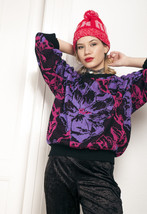 Psychedelic knit jumper - 80s vintage sweater - $34.17