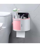 Combination Bathroom Paper Holder and stackable waterproof storage organ... - $17.99