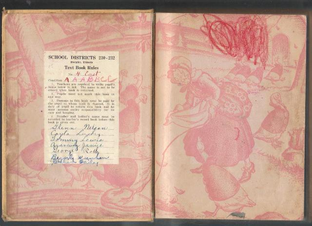 Down Our Street, 1939, Primary Textbook, Collectible Hardcover School Book
