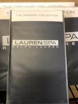 New Ralph Lauren Spa Organic King Pillowcases 400 TC Indigo Blue - $42.00
