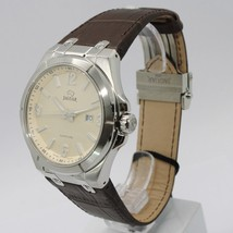 JAGUAR WATCH, SWISS MADE, SAPPHIRE CRYSTAL, 44 MM CASE, BEIGE, BROWN WITH DATE image 2