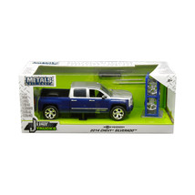 2014 Chevrolet Silverado Blue and Silver Pickup Truck with Extra Wheels ... - $56.71