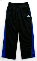 Adidas ClimaLite Black Blue & White Max Track Pants Men's NWT - $44.99