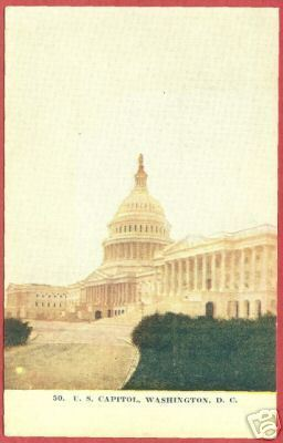 Primary image for Washington DC Capitol Postcard BJs