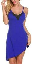 Women Nightgown Sexy Lingerie Modal Sleepwear Lace Chemise Babydoll Side... - $13.85+