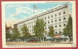 Washington DC Metropolitan Hotel 6th Pa Postcard BJs - $7.00