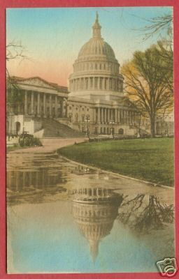 Washington DC Capitol Reflection HC Postcard BJs