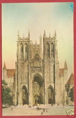 WASHINGTON DC Cathedral Mt St Albans Postcard BJs