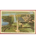 Washington DC Monument Memorial Bridge Linen PC - $5.00