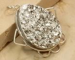 Pyrite druzy gemstone sterling silver pendant thumb155 crop