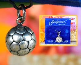 Vintage Soccer Ball Bracelet Charm Pendant Sterling Silver Jezlaine - $14.95