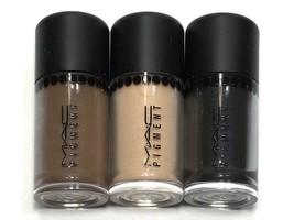 3pc MAC Mini Pigment Eyeshadow Lithe,Deep Brown, Dark Soul (Charm Size) - $18.99