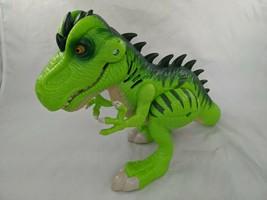 "Hasbro Jurassic World T-Rex Dinosaur 8.5"" Sounds Eyes Light Playskool Heroes  - $9.95"