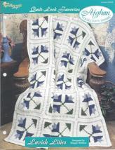 Lavish Lilies Quilt Look Favorites~Afghan Crochet Pattern - $3.99