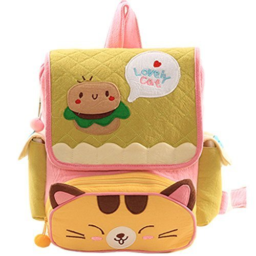 Infant Knapsack Baby Children Backpack Prevent From Getting Lost Green Cat