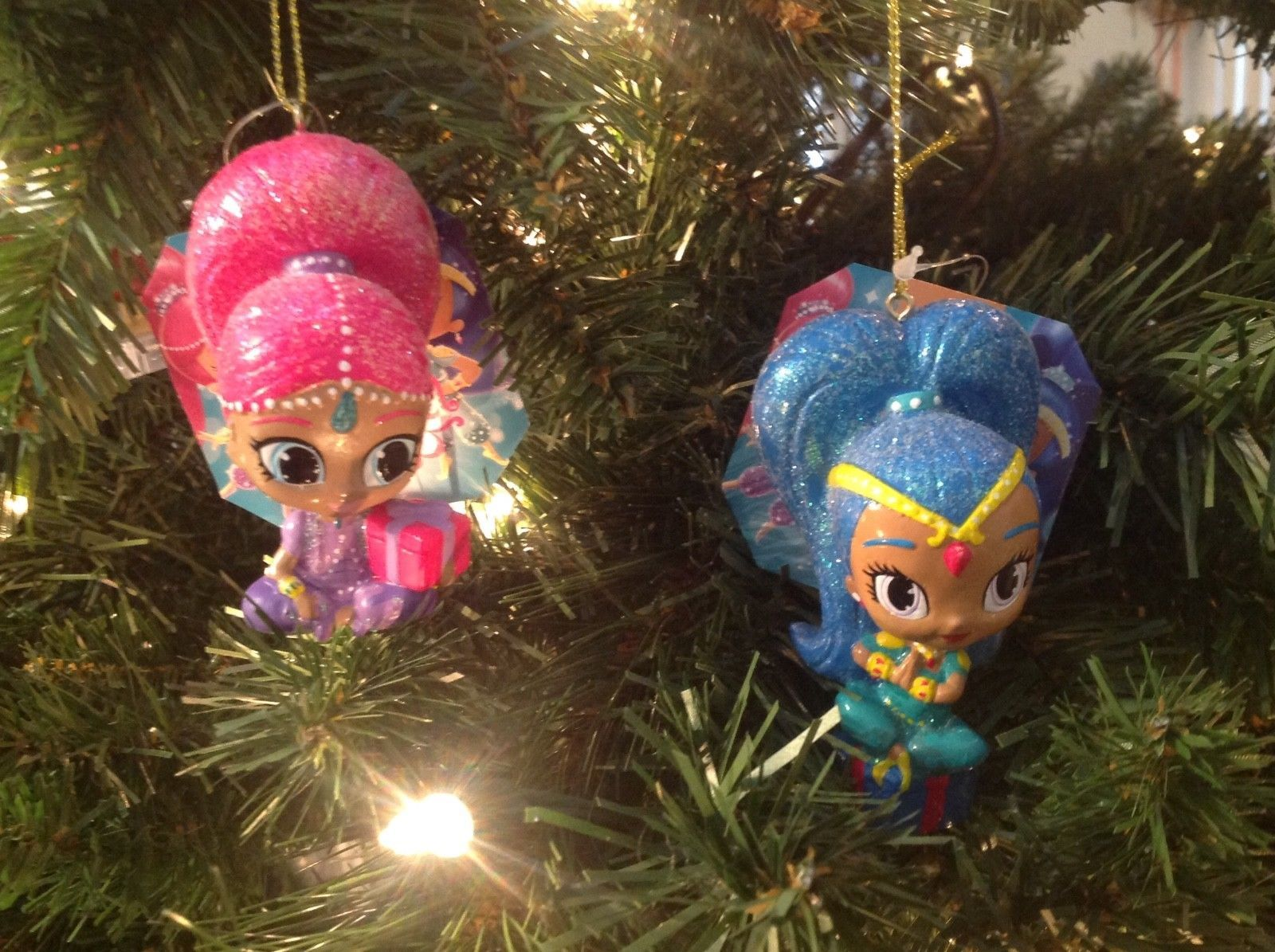 Christmas Ornament Shimmer & Shine Kurt S. Adler Set of 2