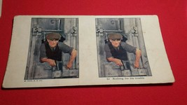Vintage 1925 A.C. Co. Stereoview BANK ROBBER Pistol Nothing for his Trouble - $9.99