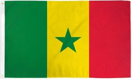 "SENEGAL 3X5' FLAG NEW 3'X5' 3 X 5 FEET 36X60"" BIG - $9.85"
