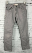 "Levi's 511 Boys Slim Straight Leg Fit Light Gray Size 12 Reg 26 x 26 *inseam 27"" - $17.81"