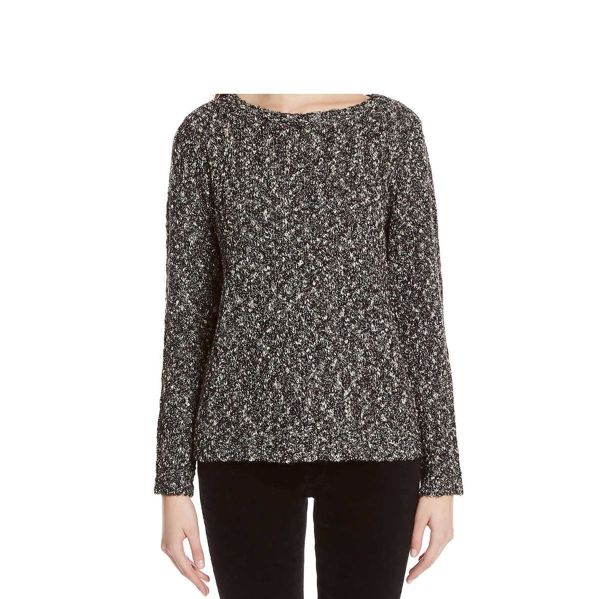 Primary image for Buffalo David Bitton Womens Textured Mixed Yarn Sweater, Black, Size XS