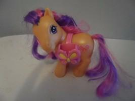 My Little Pony Scootaloo Orange Figure MLP G3 Pink Purple Hair Butterfly - $2.97