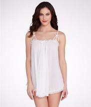 Betsey Johnson Flirty Frills Tricot Mesh Slip in White, Small - $28.70