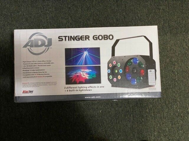 American DJ Stinger Gobo - LED Moonflower, Color Wash and Red/Green Lasers-NEW