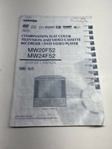 Toshiba Flat Color Television VCR/DVD Video Player MW20F52 MW24F52 Manual - $12.86