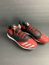 NEW Men's Adidas Icon V Bounce Baseball Cleats, Red/Black And White Size 14 - $42.08