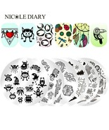 Stamping Plate Swan Ballet Flower Butterfly Lips Stamp Monster Ghosts Ro... - $3.53