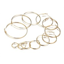 High Quality Hoop Earrings For Women Small to Big Round Hoop Earring 12 ... - $7.99
